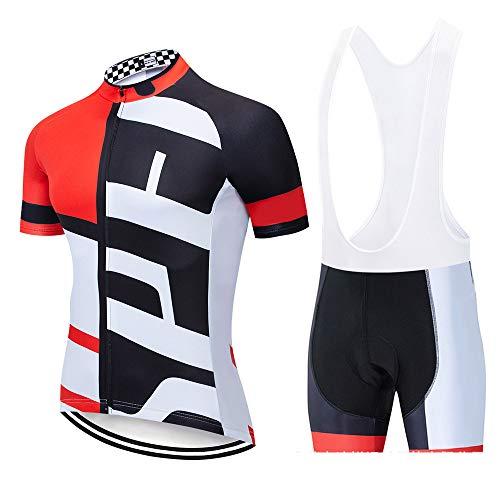 YDJGY Radtrikot TräGerhose Anzug Rennanzug Kurzarmhemd,Schnelltrocknendes, Atmungsaktives Sommer Sport-Fahrradtrikot