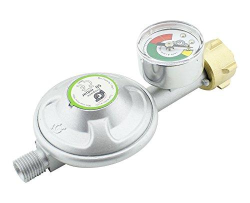 50mbar Druckminderer Druckregler mit Manometer Gasdruckregler