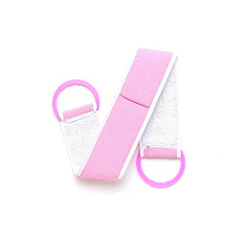 LamberthcV Komfortabler Rückenbürste, Gürtel für Bad-Peeling, Badetuch, Peeling, Schwämme für Körper, Badezimmer-Accessoires, Körperwasch-Handtuch rosa Rose