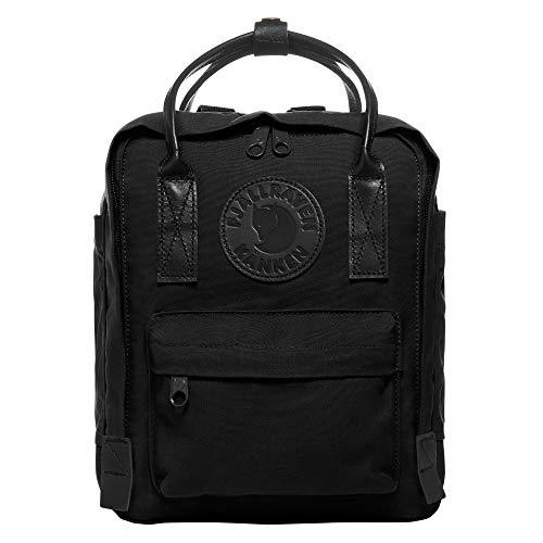 FJÄLLRÄVEN Kanken No.2 Black Mini Rucksack, 29 x 20 x 13 cm, 7 L (Schwarze Leder-mini-rucksack)