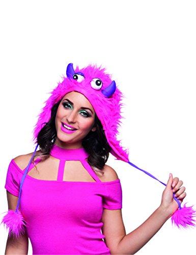 Boland Monster-Mütze für Erwachsene pink-lila Einheitsgröße