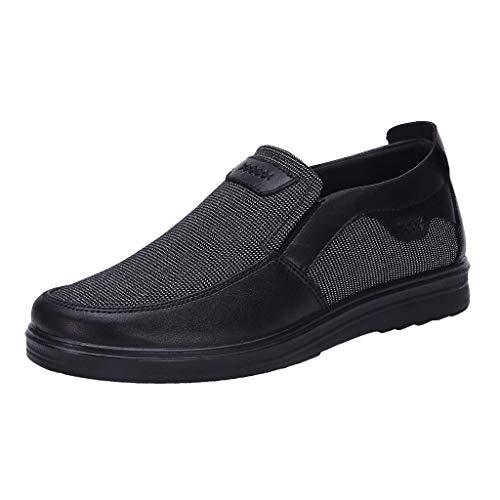 Scarpe Casual Comfort Slip On Leggero da Spiaggia o da Viaggio Scarpa a Rete Allentato e Comodo da papà Scarpe Business Casual Scarpe da Uomo (44 EU,Grigio)