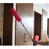Familykart India Multipurpose Microfiber Cleaning Duster with Extendable Telescopic Wall Hanging Handle, 69 oz, Multicolour