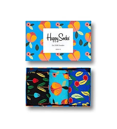 Happy Socks - Gemischt farbenfrohe Geschenkbox an Baumwollsocken fôr M_nner und Frauen, Flower, 36-40 (Für Outfits Männer Lustige)