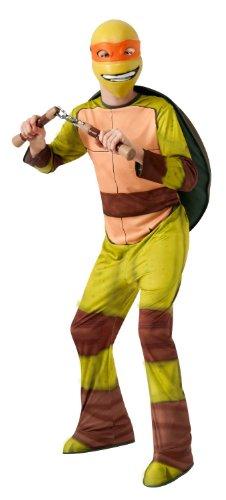 angelo Jungen Kinder Fasching Karneval Kostüm Costume 128-140 (Orange Ninja Turtle Kostüm)