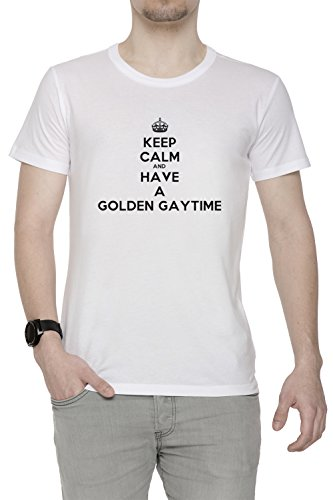 keep-calm-and-have-a-golden-gaytime-blanc-coton-homme-t-shirt-col-ras-du-cou-manches-courtes-white-m