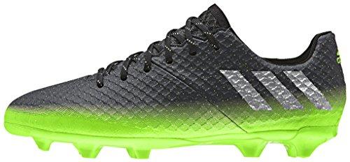 adidas Messi 16.1 Fg J, Chaussures de Foot Garçon Noir (Dark Grey/silver Metallic/solar Green)