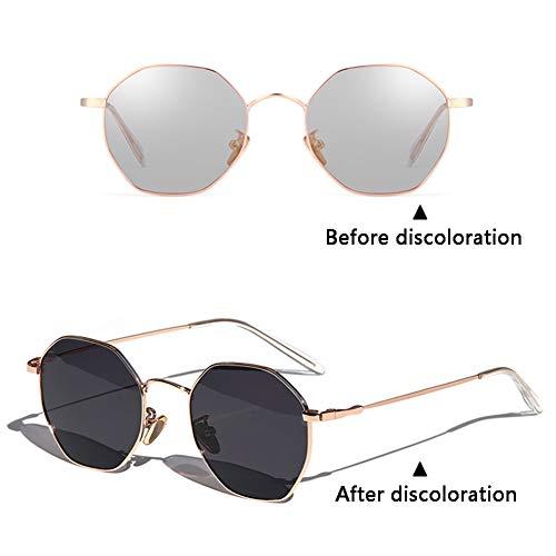 Damen Metall Retro UV-Schutz Sonnenbrille (Color : B)