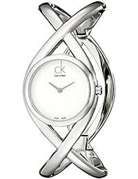 Calvin Klein -Orologio da polso, Analogico quarzo, Acciaio inossidabile, Donna