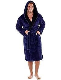 Harvey – Bata de forro polar suave con capucha y forro de contraste de 260g/m² para hombre