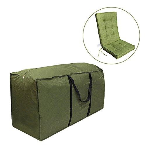Cheerfulus Grün Aufbewahrungstasche Weihnachtsbaum / Transporttasche für Gartenmöbelauflagen - Robust und wasserdicht (M:122x39x55cm)