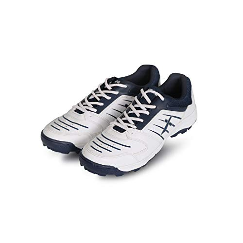 Vector X All-Rounder-WHT-Navy-7 Mesh Cricket Shoes7 UK (White-Navy)