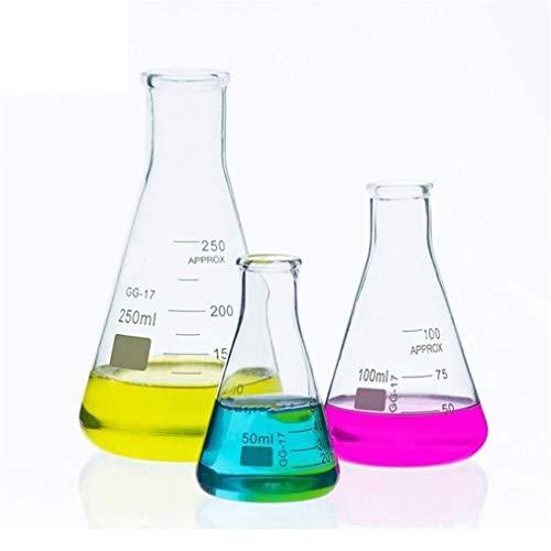 BBRTH Laborgeräte Glas Chemie Lehrmittel Labor Isoliermischer Glas Erlenmeyerkolben Transparent Sichtbar 845 (Size : Package 1)