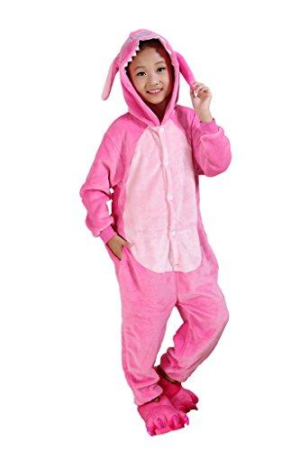 Rosa-Stich scherzt Schlafanzüge Tier Cosplay Kostüm Baby-Body Sleepsuit Freizeitkleidung Kigurumi Pyjama (Stich Mädchen Kostüm)