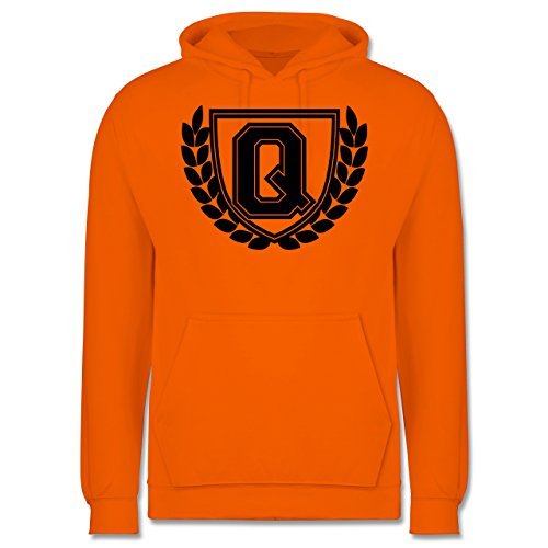 Anfangsbuchstaben - Q Collegestyle - Männer Premium Kapuzenpullover / Hoodie Orange