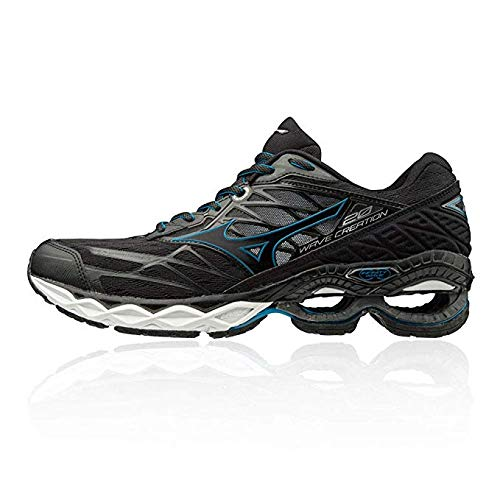 Mizuno Wave Creation 20, Scarpe Running Uomo, Nero Black/Blue Jewel 09, 44 EU