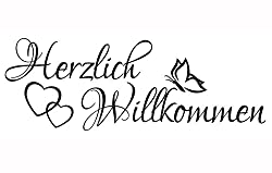 Wandtattoo Spruch - Herzlich Willkommen Welcome Flur Sticker Wandaufkleber