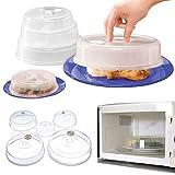 Top Home Solutions Juego de 5 cubiertas de plato de alimentos para microondas con ventilación