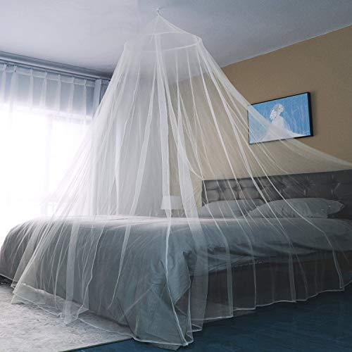 Sekey 60x250x1200cm zanzariera per letto singolo e doppio, 1 ingresso, in rete, con zanzariera, facile e veloce da installare