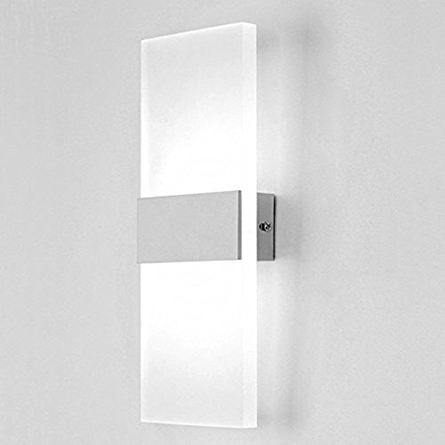 Led wall lamp amazon maxmer led up down wall light modern acrylic wall lamp bedroom lamps corridor wall lighting led night light cool white aloadofball Image collections