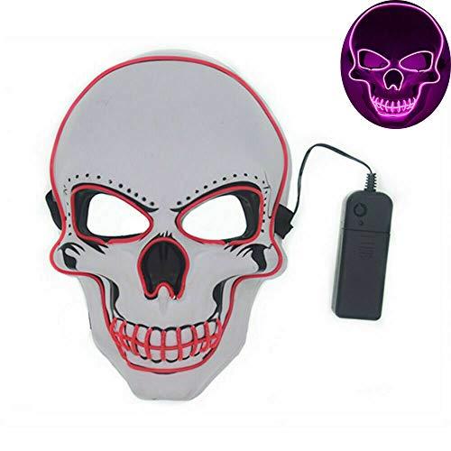 LED Halloween Masque EL Wire Masque Cosplay Lumiere Effrayant Masque Pour Décoration Fête Festival Masquerade Carnaval Soirée - Kostüm Soiree Disco