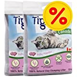 Doppelpack Tigerino Canada Katzenstreu, Babypuder