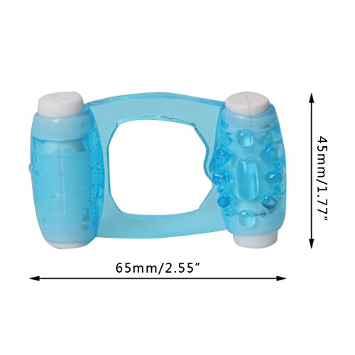 Kofun Double Ended Motors Vibrating Time Delay Cock Ring Penis Rings Sex Toy For Man Crystal Double Vibration Ring