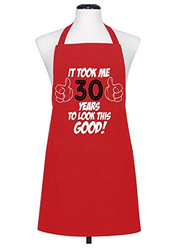 """L'Autorità ha tenuto me 30,40,50,60,70,80 anni a look good """", questo Grembiule da chef"""", RED (30 YEARS), taglia unica"""