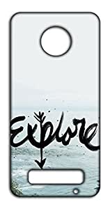 Happoz Explore Mobile Phone Back Panel Printed Fancy Pouches Accessories Z1560