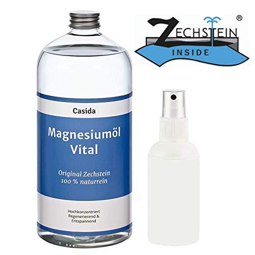 Olio di magnesio 1000ml / 1 litro + vaporizzatore - Originale Zechstein - la qualità delle farm