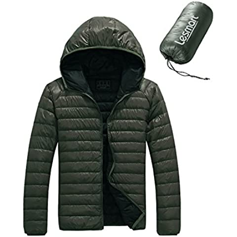 Lesmart Uomo Inverno Down Jacket 90% piume d'anatra bianca con