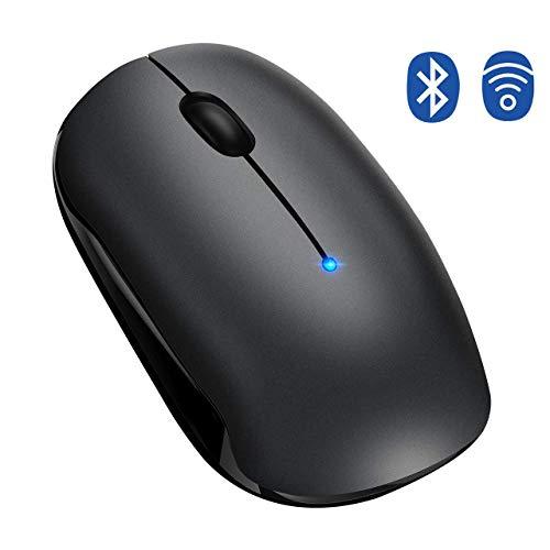 TOPELEK Bluetooth Maus, Kabellose Maus, 4.0 & 2.4G Wireless Laptop Maus mit Einstelleable, Funkmaus mit 2400 DPI & USB Nano Empfänger Für PC Laptop iMac MacBook Microsoft Pro, Office Home
