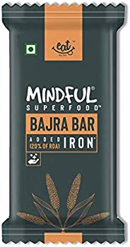 EAT Anytime Mindful Bajra Millet Snack Bars Loaded with Iron, 300 g (12 x 25g)