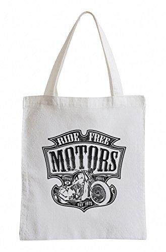 Ride free motors Cooler Party Jutebeutel (Motor Freiheit)