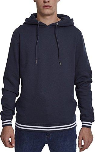 Urban Classics Herren College Sweat Hoody Kapuzenpullover, Blau (Navy 00835), X-Large (Herstellergröße: XL) -