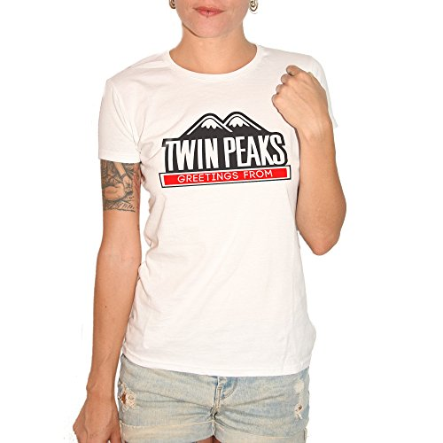 T-shirt Greetings From Twin Peaks – by Brain Factory blanc