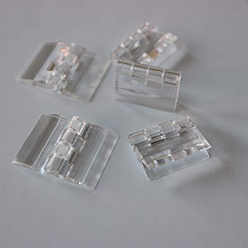 5 x Bisagra bisagras continua de plástico transparente clara acrílica de 25mm...