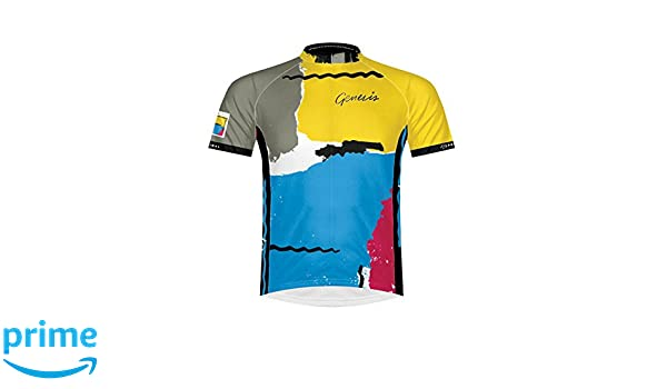 Primal Europe Bottled Genesis Abacab Men S Short-Sleeved Cycling Jersey  Multi-coloured Size  SM  Amazon.co.uk  Sports   Outdoors c0207fa4d