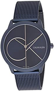 Calvin Klein Men's Quartz Watch, Analog Display and Stainless Steel Strap K3M5