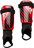 adidas X Club protège-Tibias Mixte Adulte, Active Red/Black/Off White, FR : L (Taille Fabricant : L)