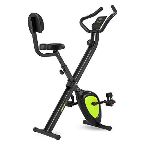 Klarfit X-Bike XBK700 Pro • Bicicleta estática • Bicicleta Fija de Cardio • Ergómetro • Ordenador de Entrenamiento • Pulsómetro • Negro y verde