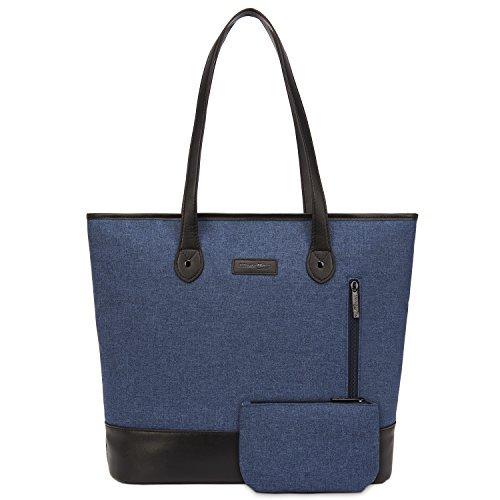 Umhängetasche/ Laptoptasche/Notebooktasche/Aktentasche/Handtasche für Damen, 39,6cm, leicht, aus Nylon, Stil: Klassisch, Casual, von UtoteBag -