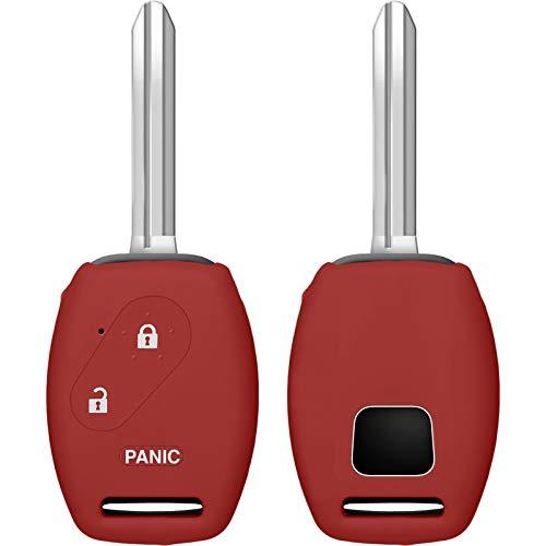 PhoneNatic Cover in Silicone Chiavi per Telecomando a 2 Tasti Honda Civic/Accord/Fit Rosso Chiave a Scatto a 2-Key