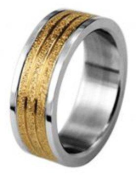 Unbekannt Schmucktrendzone Edelstahlring, metallic, Gold, antiallergen, 7 mm, Nr. 90007360