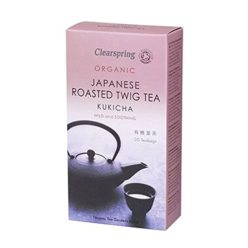 Case of 6 x Clearspring Organic Japanese Roasted Twig Kukicha Tea (20 Bags)