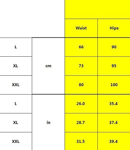 POKWAI 3 Pack Frauen-Sommer-transparente Spitze Reizvolle Beiläufige Taille Strumpfhosen Hosen Aus Reiner Baumwolle Schrittgurt A6