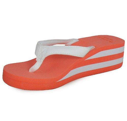 Flat Sandalen Post Foam Loudlook Red Neue Sommer 8 Strand Gr枚sse 3 Damen Casual Toe Schuhe Frauen Ufx0BxH