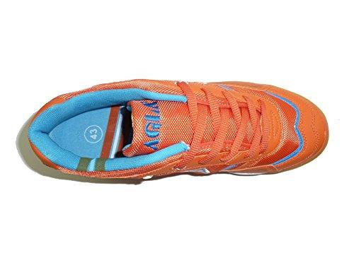 AGLA PROFESSIONAL CONDOR LIGHT OUTDOOR scarpe calcetto futsal con anti-shock Arancione