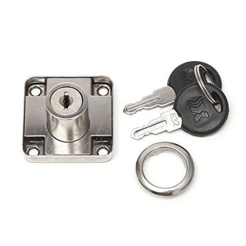 Exing 22mm Schublade Cam Lock mit 2 Tasten für Schrank Büro Kleiderschrank (Pick Lock Set-taste)