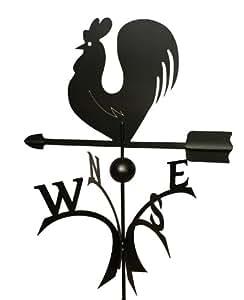 Girouette coq décoratif en métal roulement à billes de grande qualité, noir